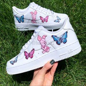 Nike Air Force 1 Custom Piglet Butterfly Sneaker